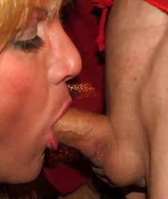 Horny cock sucking crossdresser sluts love giving wet blowjobs.