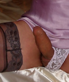Pantie boyz wearing gorgeous knickers and playing with their rock hard cocks.