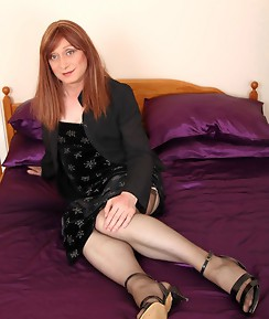 Lucimay hugs onto her silk pillow before stripping slowly and playing with her hard cock.