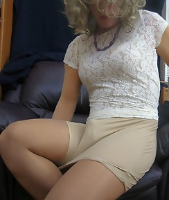 Horny crossdressing sluts putting on some gorgeous nylons and stockings.