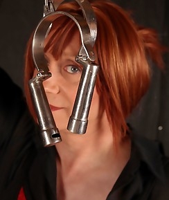 Lucimay is looking cute and dominant as she shows off all of her dungeon toys and ropes.