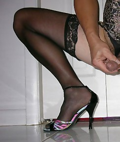 This sissy slut loves a good selection of dildos when he's wearing his sexy nylon panties and stockings