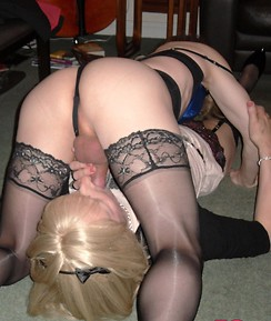 TGirl Kirsty and her horny friends enjoy sucking and fucking in this filthy group party