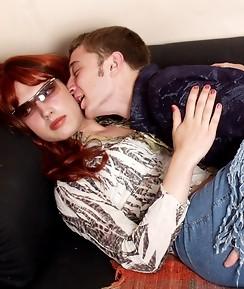 Nasty sissy guy burning with desire in frenzied gay suck-n-fuck amusement